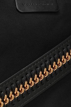 STELLA McCARTNEY Faux leather-trimmed twill shoulder bag