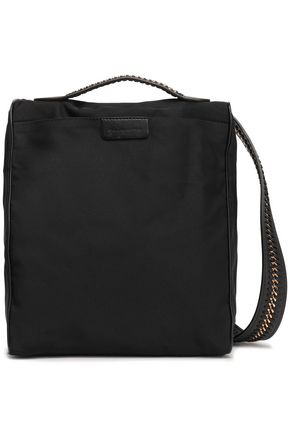 STELLA McCARTNEY Faux leather-trimmed twill shoulder bag
