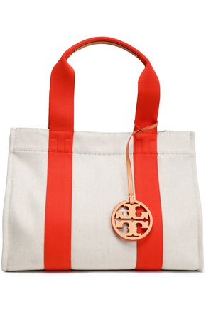 TORY BURCH | Tory Burch Leather-Trimmed Canvas Tote | Goxip