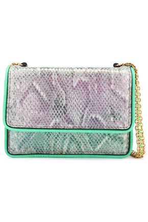STELLA McCARTNEY Grace snake-print faux suede shoulder bag