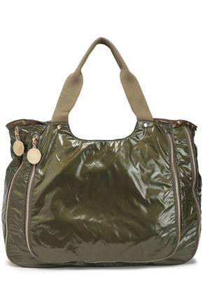 STELLA McCARTNEY Nirvana zip-detailed coated-shell tote