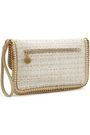 STELLA McCARTNEY Chain-trimmed coated woven clutch