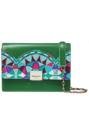 EMILIO PUCCI Embroidered leather shoulder bag