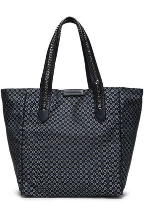 STELLA McCARTNEY Chain-trimmed floral-print twill tote