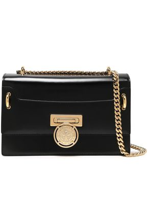 BALMAIN Glossed-leather shoulder bag