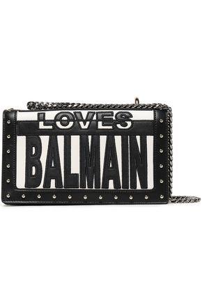BALMAIN Embellished leather shoulder bag