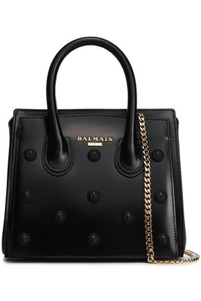BALMAIN Appliquéd leather tote