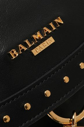 BALMAIN Domaine tasseled studded leather shoulder bag