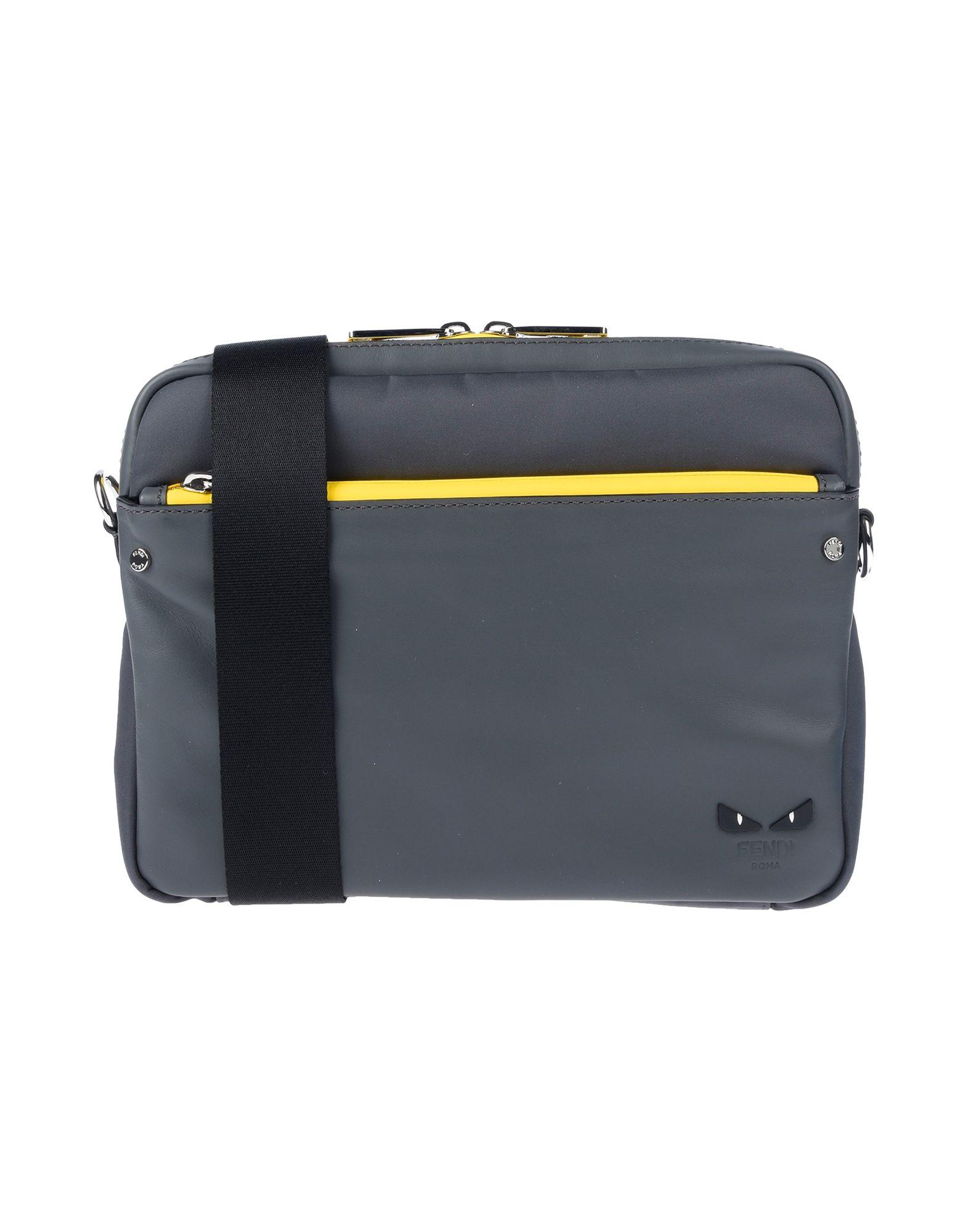 FENDI Сумка через плечо fendi серая сумка с серебристым логотипом kan i