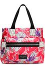 MARC JACOBS Biker leather-trimmed floral-print shell diaper bag