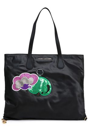 MARC JACOBS Appliquéd shell tote