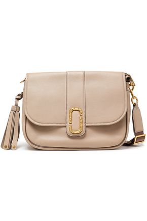 MARC JACOBS Tasseled textured-leather shoulder bag