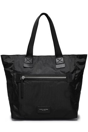 MARC JACOBS Leather-trimmed shell tote