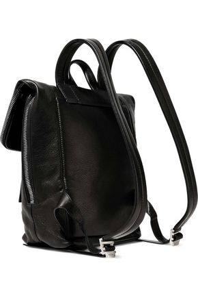 RICK OWENS Duffle textured-leather backpack