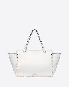 Medium Rockstud Grainy Leather Bag