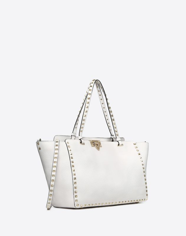 Medium Rockstud Grainy Leather Bag