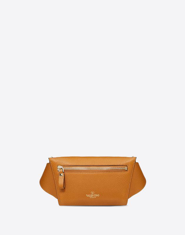 Поясная сумка Rockstud из зернистой телячьей кожи