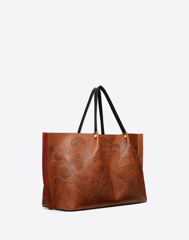Large VLOGO Escape Shopper With Phoenix Print