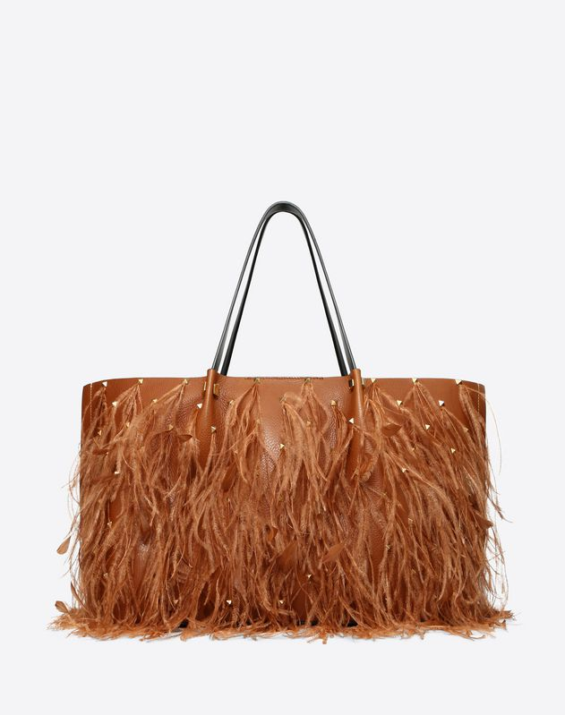 Large VLOGO Escape Shopper With Feather Details