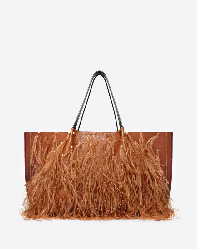 Large Go Logo Escape Shopper With Feather Details