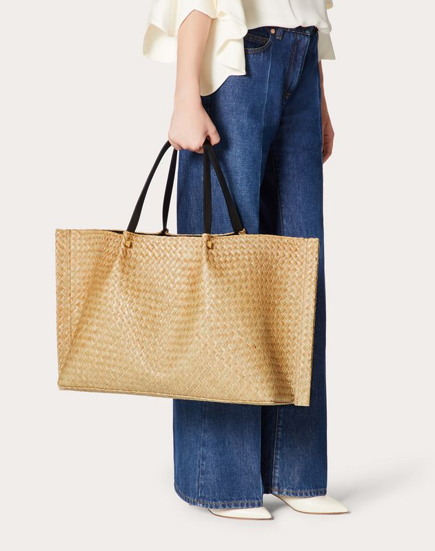 Large VLOGO Escape Straw Shopper