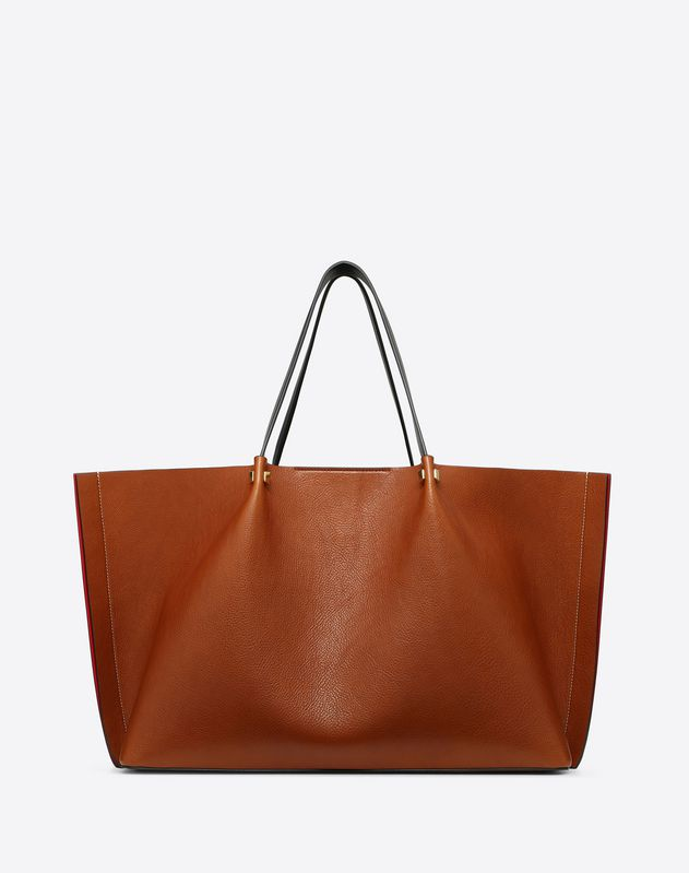 Large Go Logo Escape Cowhide Shopper