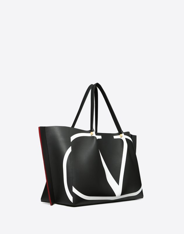 Large VLOGO Escape Shopper With Inlay Detail