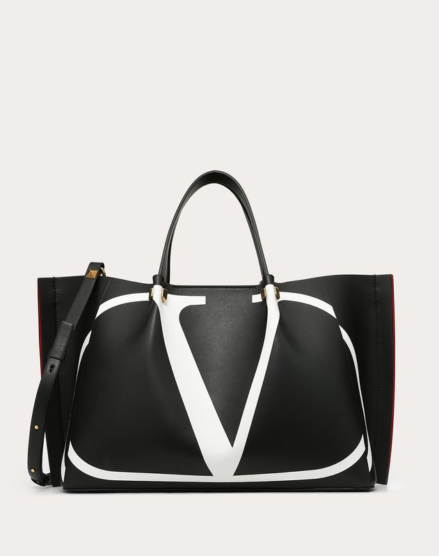 Medium VLOGO Escape Shopper With Inlay Detail