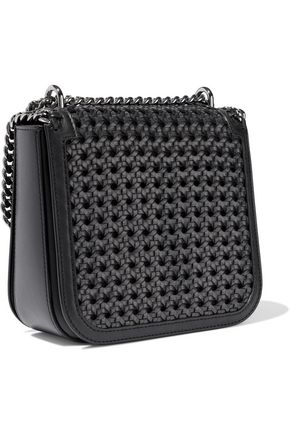 STELLA McCARTNEY The Falabella Box medium woven faux leather shoulder bag