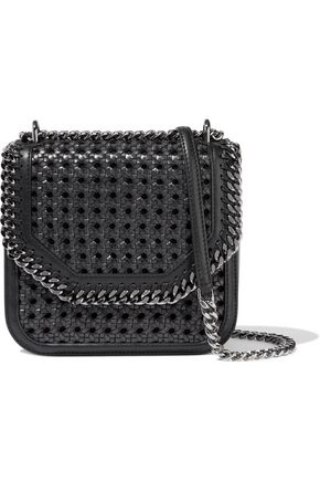 STELLA McCARTNEY Falabella Box woven faux leather shoulder bag