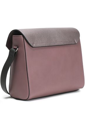 BRUNELLO CUCINELLI Smooth and textured-leather shoulder bag