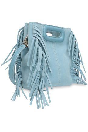 MAJE Mini M fringed suede shoulder bag