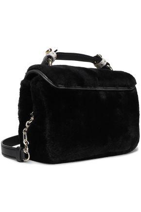 MAJE L Dance faux fur shoulder bag