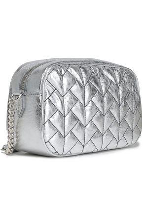 ROBERTO CAVALLI Quilted metallic leather shoulder bag