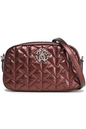ROBERTO CAVALLI Quilted metallic leather shoulder bag