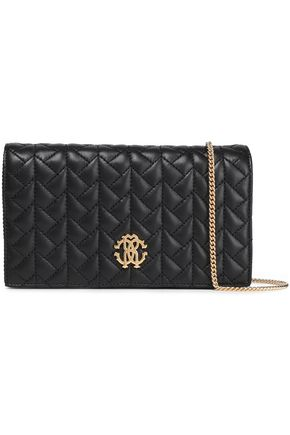 ROBERTO CAVALLI Quilted leather clutch
