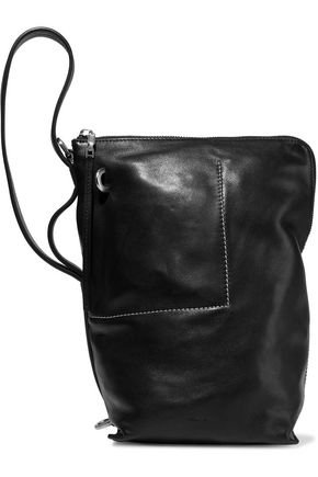 RICK OWENS Brushed-leather bucket bag