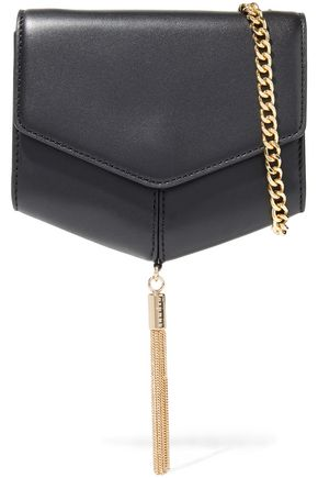 SANDRO Lou tasseled leather shoulder bag
