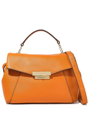 SANDRO Yza pebbled-leather shoulder bag