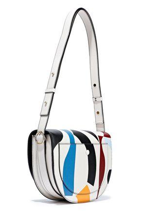 5e0c2599fd VICTORIA BECKHAM Half Moon Box color-block leather shoulder bag