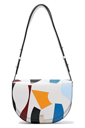 5dcb3ad1ab9f VICTORIA BECKHAM Half Moon Box color-block leather shoulder bag