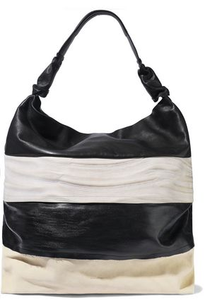 RICK OWENS Jumbo Adri coated-denim and textured-leather tote