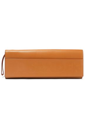 JIL SANDER Embossed leather clutch