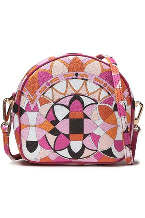 EMILIO PUCCI Printed faux textured-leather shoulder bag