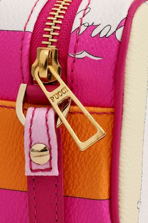 EMILIO PUCCI Printed faux textured-leather shoulder bag