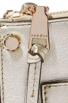 SANDRO Bianca metallic textured-leather shoulder bag