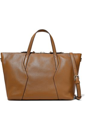SANDRO Yza pebbled-leather tote