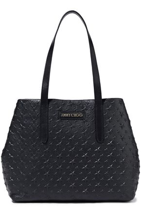 JIMMY CHOO Sofia embossed textured-leather tote