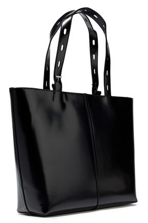 f65befdf4fda Zip-detailed glossed-leather tote | KARA | Sale up to 70% off | THE ...
