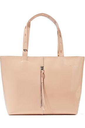 KARA Patent-leather tote